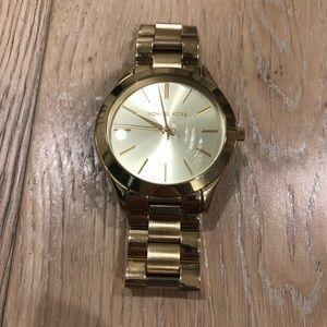Michael Kors Gold Slim Runway Watch